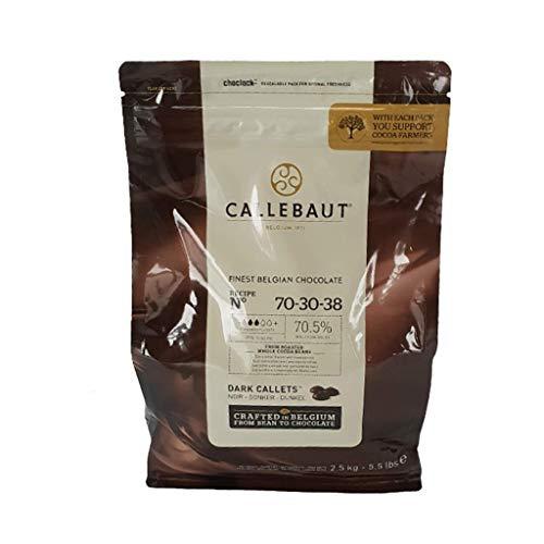 Callebaut Cioccolato Fondente 70-30-28% Cf. 2,5 kg ottimo per aromatizzare Dolci ganache, mousse, creme, gelati e salse