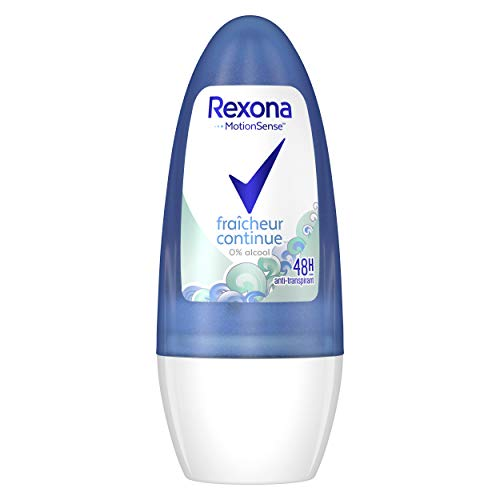 Rexona - Desodorante para mujer de roll on, anti transpirante, frescor continuo, 50 ml