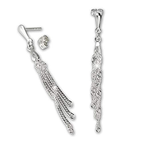 SilberDream Ohrringe für Damen 925 Silber Ohrstecker 3-Kettchen SDO511