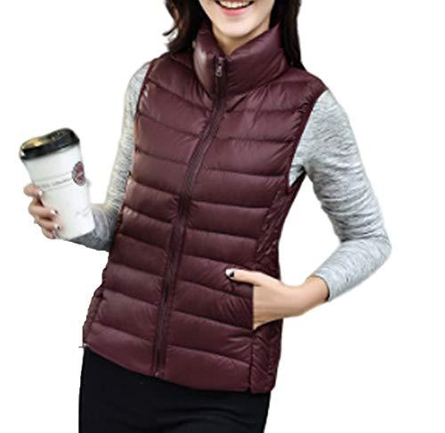 GL SUIT Dames Down Vest Stand Kraag Gewatteerde Gilet Body Warmer Vest Outdoor Gewatteerde Taillejassen Lichtgewicht Mouwloze Jas Winterjassen voor Wandelen Reizen Wandelen