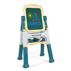 Caballete de Arte para niños Caballete de Arte para niños pequeños con Pizarra y Pizarra magnéticas Juguetes de Tablero de Dibujo para niños y niñas,A