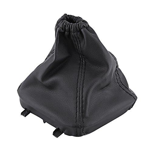 Qiilu Universal soufflet de Levier de Vitesse PU Housse de Protection en Poudre Noir