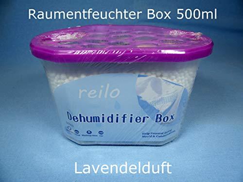"""10x 500ml Box\""""Lavendel\"""" Auto Raum Luftentfeuchter Box mit 230g Granulat - nachfüllbar -"""