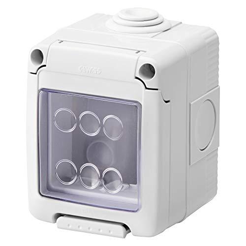 Gewiss GW27041 IP55 caja eléctrica - Caja para cuadro eléctrico (66 mm, 65 mm, 82 mm)