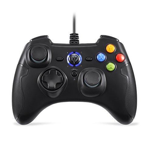 EasySMX wired gaming Controller Joysticks für Spiele mit Turbo und Fronttasten für Windows / PS3 / Android TV, TV Box