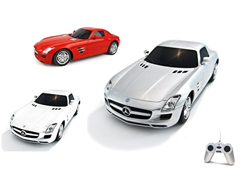 Mercedes Benz SLS AMG - RC ferngesteuertes Lizenz-Fahrzeug im Original-Design, Modell-Maßstab 1:24, Ready-to-Drive, Auto inkl. Fernsteuerung