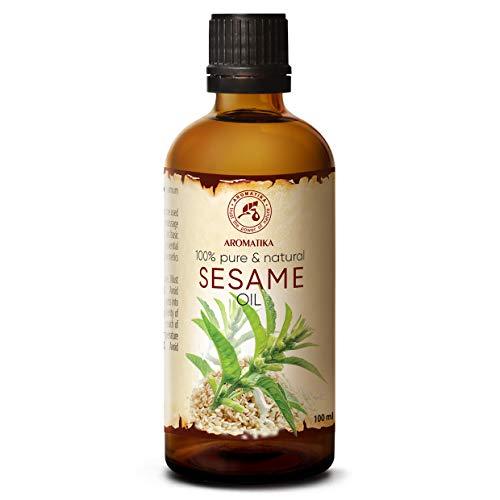 Aceite de Sésamo - 100ml - Sesamum Indicum - Prensado en Frío - Sésamo Oil - Aceite Base - Aceite Portador - Aceite para la Piel - Cuidado del Cabello - Aceite de Baño