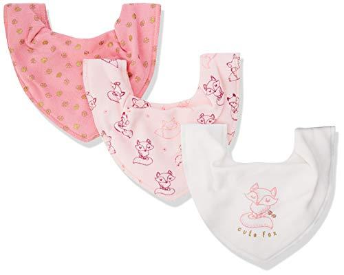 Pippi Pippi Unisex Baby 3er Pack Lätzchen Dreieckstücher Halstuch, Rosa (Rose 510), (Herstellergröße:One Size)