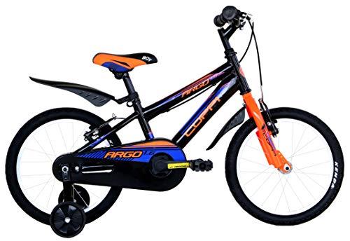 Coppi CTB 16 jongens, City Bike voor kinderen, zwart/oranje, maat S