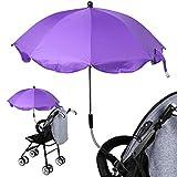 1 sombrilla para cochecito de bebé, cochecito de bebé, cochecito ajustable, sombrilla, toldo para la lluvia, protección contra la lluvia, violeta (Morado) - 9953604072137