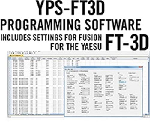 Yaesu FT-3DR Programming Software for FT3DR