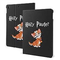 毛深いポーター猫 iPadタブレットケースカバードロップショック保護薄型軽量防塵包括的な保護スクラッチ防止自動スリープ/ウェイクアップiPad 7th 10.2インチ、iPad Air3とプロ10.5インチマルチモデル