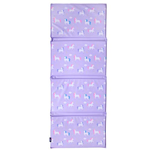 Wildkin Kids Vinyl Nap Mat for Boys & Girls, Measures 48 X 19 Inches Rest Mat for Kids, Ideal for Daycare & Preschool, Perfect for Classroom, Home & Travel Nap Mats, BPA-Free (Unicorn)