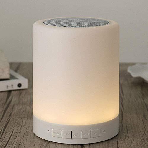Asncnxdore. DSD bewegliche Bluetooth Musik-Lautsprecher Dimmbare Smart Touch-LED-Nachtlicht Muisc Spieler/Freihändige Mit USB-Lade 3 Hebel Helligkeit Farbe 7, die im Freien Low Sound