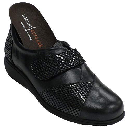 Zapato Velcro Mujer Especial para Plantillas Doctor Cutillas en Negro Talla 37