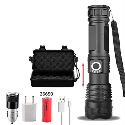 RUOXI Taschenlampe 120000 Lumen Xhp70.2 Leistungsstärkste Led-Taschenlampe Usb-Zoom-Taschenlampe Xhp70 Xhp50 18650 26650 Akku-TaschenlampeOption D