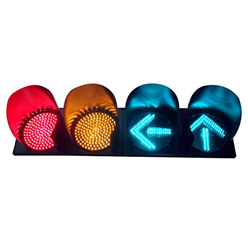 RuBao 4 eenheden van 300 mm afstandsbediening stopcontact, ED waarschuwing rood groen wandlamp, ijzer decoratieve bar, voor parkeerplaats-signaallicht