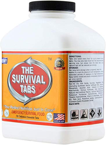 720 tabs Survival Tabs 60-Day Emergency Survival MREs Meals Ready-to-eat Bugout for Travel Camping Boating Biking… 5