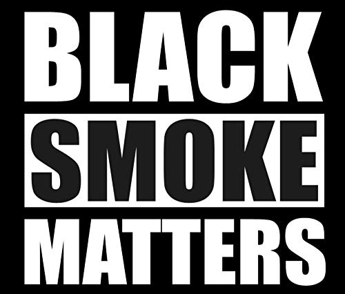 SixtyTwo24 Black Smoke Matters- 5' Decal {White} Repellent Sticker, Rollin Coal Sticker, Rolling Coal, Black Smoke Matters Sticker, Decal, Diesel, Stacks, Decal, Vinyl Pipes