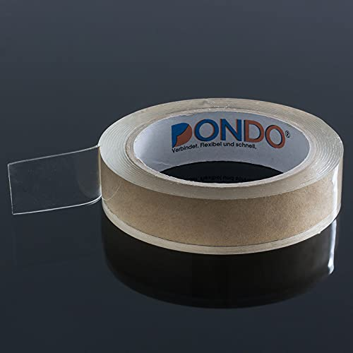 Dichtband Dondo-Seal Glasklar selbstklebend Hochleistungs Dichtband transparent wasserdicht (25mm x 3m, transparent)