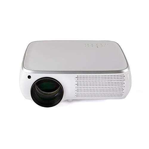 QuRRong Proyector Proyector LCD 950 lúmenes 1920X1080dpi 1080P HD 4K 3D Proyector LED 8G para Cine en casa (Color : White Silver, Size : One Size)