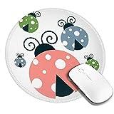 Fransenfreie Ränder Mousepad Gaming Mouse Pad Cute Ladybugs, Premium-Textured Mouse Mat, Non-Slip Rubber Base Mousepad For Computert