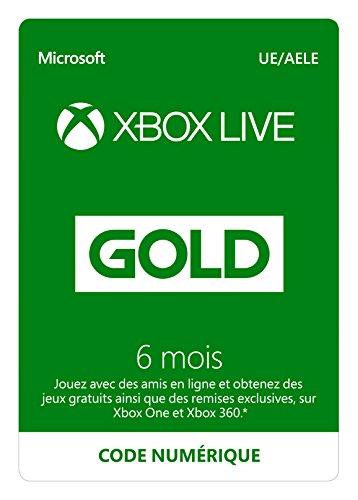 Abonnement Xbox Live Gold 6 mois | Xbox Live - Code jeu à télécharger