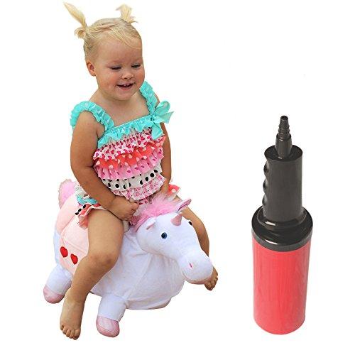 WALIKI Bouncy Unicorn Hopper | Hopping Unicorn | Inflatable Ride-On Pony | Ridding Horse for Kids | Jumping Unicorn | Pump Included
