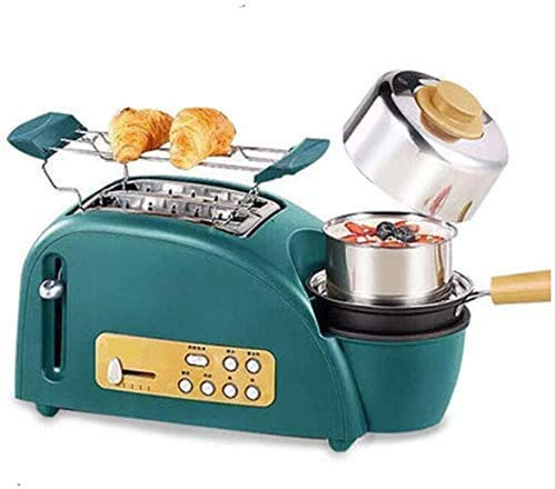 Broodmachines, 3 In1 Slot Broodrooster, Ontbijt Machine Coffee Tea Pot Teppanyaki Oven Brood Broodrooster Bakken Maker Pan Pizza Cooker ZHW345