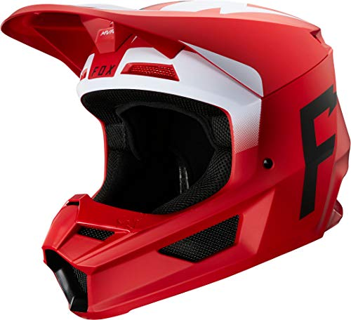 Fox V1 Werd Helmet, Ece Flame Red, Groß