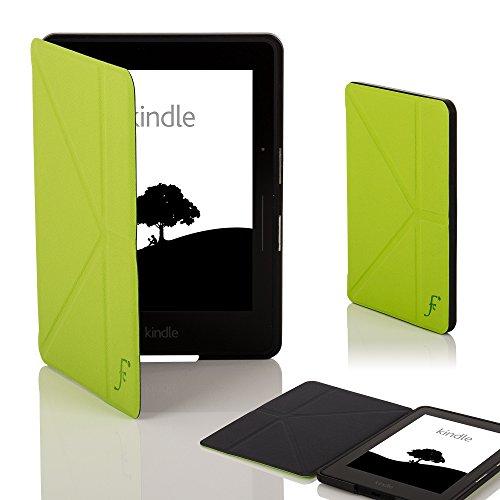 Forefront Cases Amazon Kindle Voyage Origami Hülle Schutzhülle Tasche Smart Case Cover - Ultra Dünn und Leicht mit Rundum-Geräteschutz und intelligente Auto Schlaf/Wach Funktion - Grün