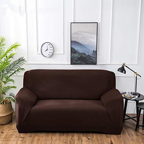 WYSTLDR 4/3/2/1 Sitz elastische Samt Sofabezug universelle einfarbige elastische Sofabezug Sofa Boden Sofa elastische 4 quadratische Gitter Sofabezug