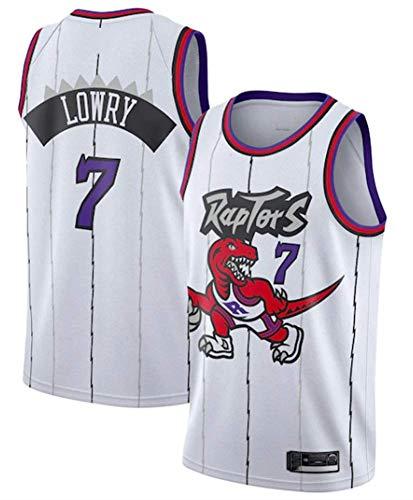 Camiseta de Baloncesto de los Hombres - NBA Raptors # 7 Lowry Transpirables Mangas Retro Deportes Camisetas Alero Jersey,A,XL(185CM/85~95Kg)