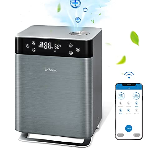 Ultenic H8 Smart Humidifiers for Bedroom, 4.3L Warm & Cool Mist, Top-Filling, APP & Alexa & Remote Control, Ultrasonic Air Humidifier with Essential Oil Diffuser for Large Room, Baby, Whole House