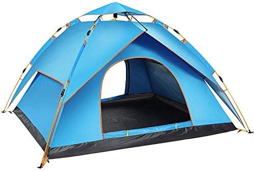 Outdoor Tents Thicken, 3-4 Person Camping Tent - Fully Automatic Rainproof Sun Shelter Waterproof for Sports Hiking Travel Rainfly