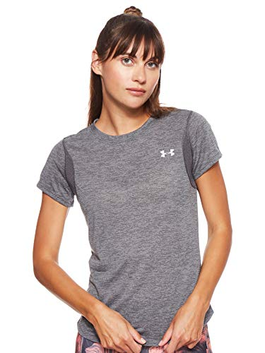 Under Armour UA Streaker 2.0 Heather Short Sleeve T-Shirt Femme, Gris, S