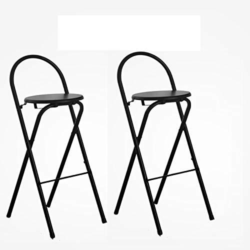 Opvouwbare barkrukken, set van 2, waterdicht, 80 cm lang, ontbijtstoel dubbel pak, kunststof, aanrechtstoel, geschikt voor barrestaurants