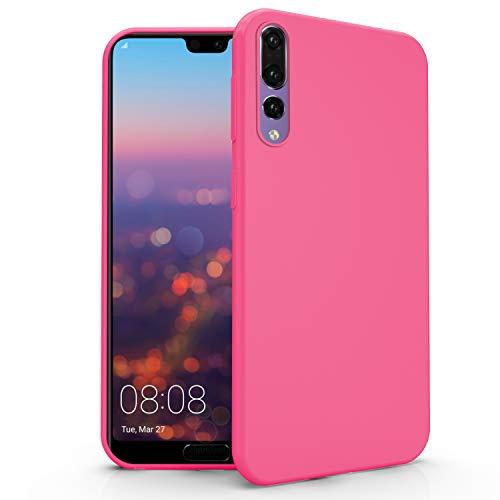 N NEWTOP Cover Compatibile per Huawei P20 PRO, Custodia TPU Soft Gel Silicone Ultra Slim Sottile Flessibile Case Posteriore Protettiva (Fucsia)