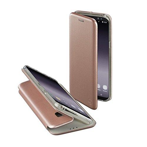 Hama Schutzhülle Curvee (für Samsung Galaxy S9, magnetisches TPU-Terrmoplastisches Polyurethan) / PU-Leder (PU), drahtloses Aufladen (kabelloses Laden) Roségold