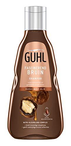 Guhl Fascinerend Bruin Shampoo - met Kuikui-noot olie - voor natuurlijk of gekleurd bruin haar - 250 ml