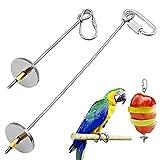 2 Piezas Pájaros para Verduras Comedero, Porta Alimentos para Pájaros, Alimentar a Los Animales Es Más Conveniente, Comida para Mascotas Casera