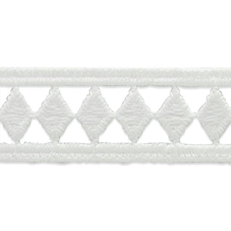 Expo IR8070WH-10 10 Yards of Single Row Diamond Border Lace Trim White