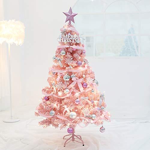 qwqqaq Premium Pink Christmas Tree With Crafts Decor,artificial Hinged Xmas Tree Foldable Holiday、christmas Decor Intensive-b 210cm/7ft