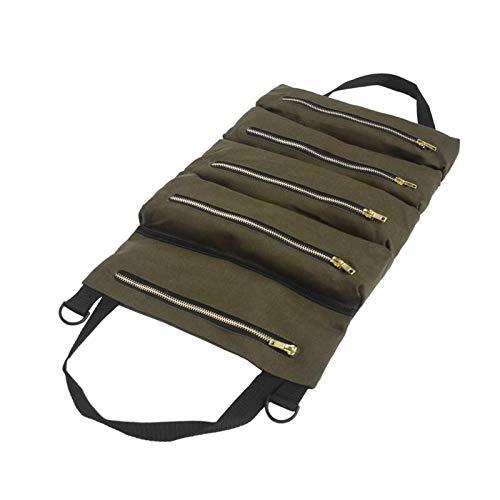 CCHAO Autowerkzeug up up Taschen leinwand lagerungsträger Tote Tout Tools gleitehalter reißverschluss zurück Sitz Organizer schwarz grau grün Khaki. (Color Name : Army Green)