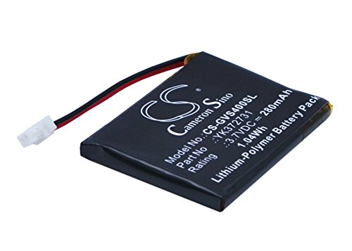 CS-GVS400SL Batería 280mAh Compatible con [Golf Buddy] DSC-GB750, DSC-GB900, Voice 2, Voice GPS Rangefinder, Voice Plus, VS4 GPS Rangefinder, VS4 Voice sustituye PL482730, para YK372731