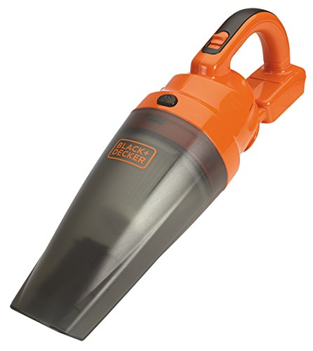 Black+Decker 18V Akku-Handstaubsauger, 25AW, 2-stufiges Filtrationssystem, 480mm/H2O, Saugkraft, 701ml Staubbehälter-Kapazität, ohne Akku und Ladegerät, kompatibel mit dem 18V Akkusystem, BDCDB18N