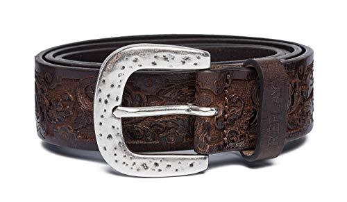 REPLAY Ax2248.000.a3007 Cinturón, Marrón (Faded Black Brown 127), 105 (Talla del fabricante: 90) Unisex Adulto
