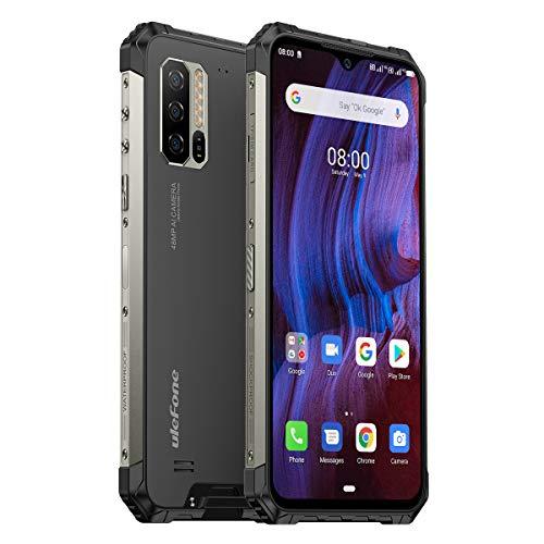 Telephone Portable Incassable, 128Go+ 4Go 48MP + 16MP Caméra, 4G 5500 mAh, Smartphone Incassable Ulefone Armor 7, 6.3 Pouces FHD Charge sans Fil, IP68/IP69K Étanche NFC Dual SIM Telephone Antichoc
