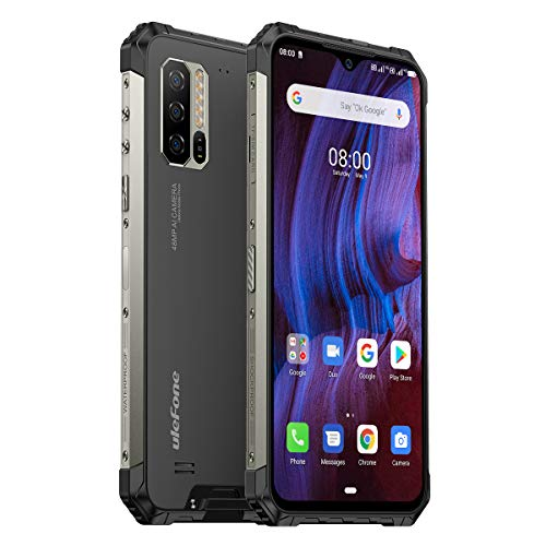 Ulefone Armor 7E Rugged Smartphone Unlocked, IP68 Waterproof Cell Phones Helio P90 Android 10 4GB + 128GB, 48MP+2MP+2MP Triple Camera, 5500mAh Battery QI Wireless Charge, 6.3' FHD+, Global Bands, NFC