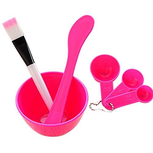 6 in 1 Demarkt make-up DIY gezichtsmasker Wergtools huidverzorging sleutel penseel spatel lepel Homemade masker Bowl, rozenrood